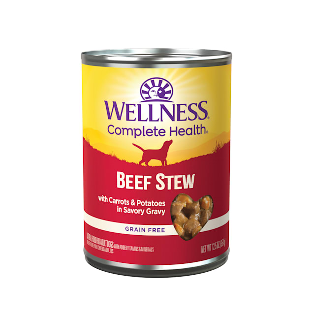 Wellness Beef Stew with Carrots & Potatoes Canned Dog Food, 12.5 oz., Case of 12 - Carousel image #1