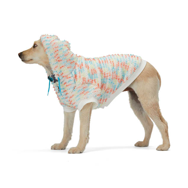 YOULY The Artist Multicolored Speckled Dog Hoodie, XX-Small - Carousel image #1