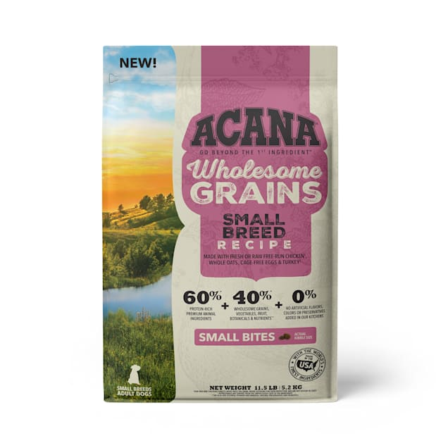 ACANA Wholesome Grains Small Breed Recipe with Real Chicken, Eggs and Turkey Dry Dog Food, 11.5 lbs. - Carousel image #1