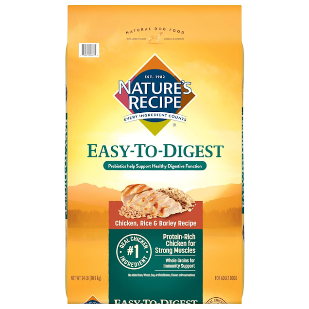 Nature's Recipe Easy to Digest Chicken, Rice & Barley Recipe Dry Dog Food, 24 lbs. - Carousel image #1