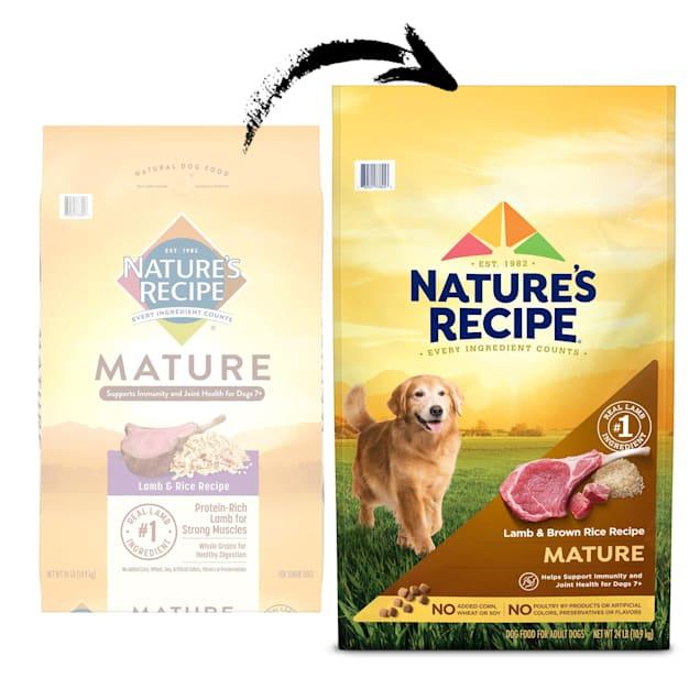 Nature's Recipe Lamb & Rice Recipe Mature Dry Dog Food, 24 lbs. - Carousel image #1