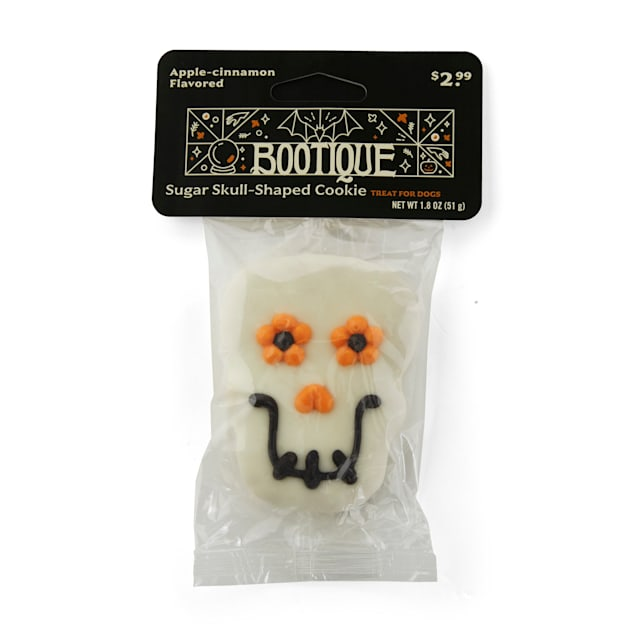 Bootique Sugar Skull-shaped Dog Cookie Treat for Dogs, 1.9 oz. - Carousel image #1