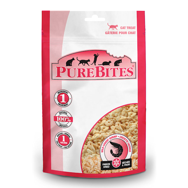 Pure Bites Freeze Dried Wild-Caught Shrimp Value Size Cat Treats, 0.38 oz. - Carousel image #1