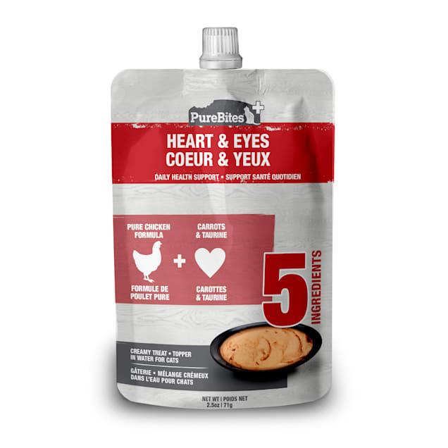Pure Bites Squeezable Heart & Eyes Creamy Cat Treats, 2.5 oz. - Carousel image #1
