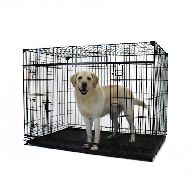"""Lucky Dog Extra Large Double-Door Dog Crate with Sliding Doors, 54"""" L X 37"""" W X 40"""" H - Carousel image #1"""