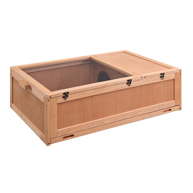 """Unipaws Tortoise House Starter Kit With Tray, Reptile Carpet And 2 Bowls, 42"""" L X 28"""" W X 12"""" H - Carousel image #1"""