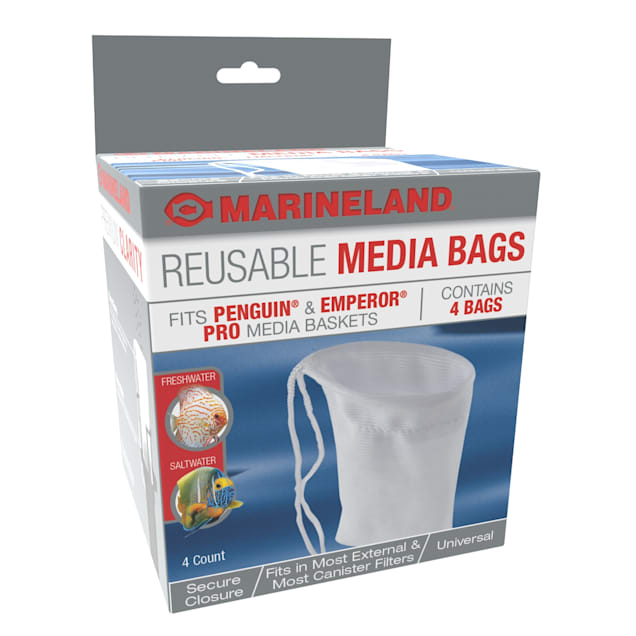 Marineland Reusable Media Bags Fits Penguin And Emperor Pro Media Baskets, Count of 4 - Carousel image #1