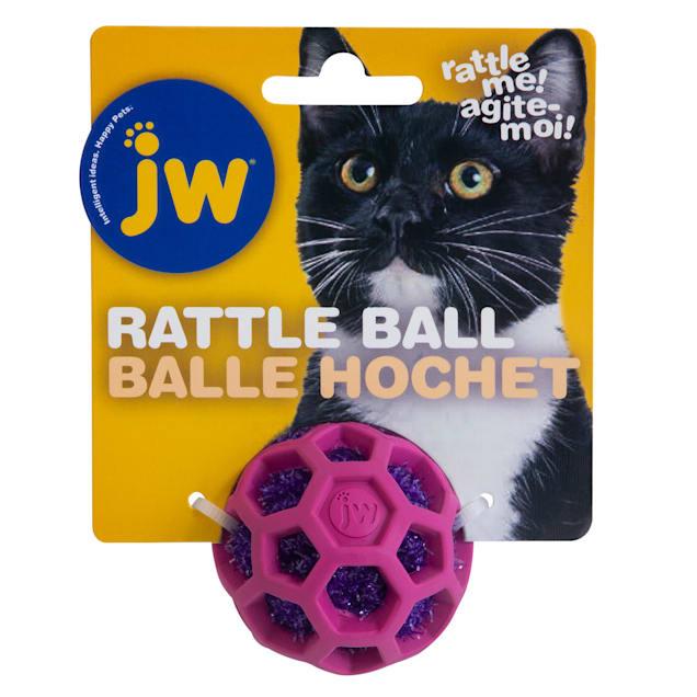 JW Cataction Rattle Ball Cat Toy, Medium - Carousel image #1