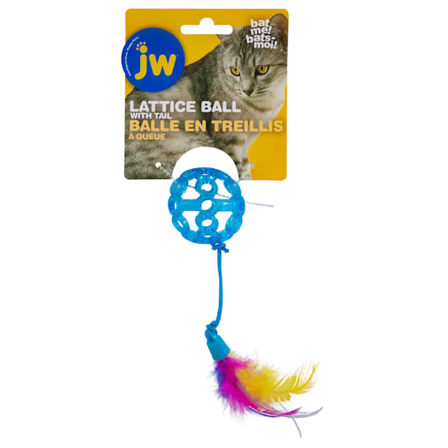 JW Cataction Assorted Lattice Ball Cat Toy, Medium - Carousel image #1