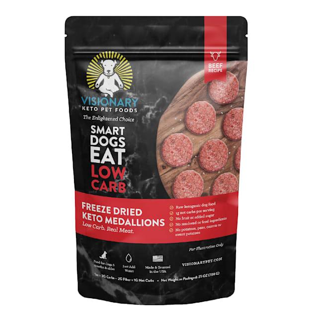 Visionary Keto Pet Foods Low Carb Keto Beef Recipe Freeze-Dried Dog Food, 25 oz. - Carousel image #1