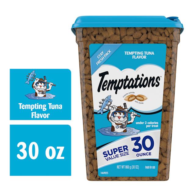 Temptations Classics Tempting Tuna Flavor Crunchy and Soft Cat Treats, 30 oz. - Carousel image #1