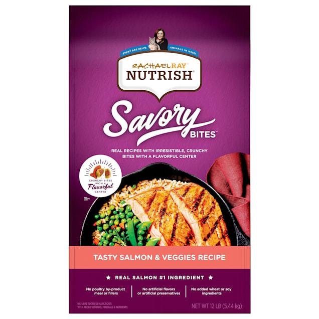 Rachael Ray Nutrish Savory Bites Tasty Salmon & Veggies Recipe Dry Cat Food, 12 lbs. - Carousel image #1
