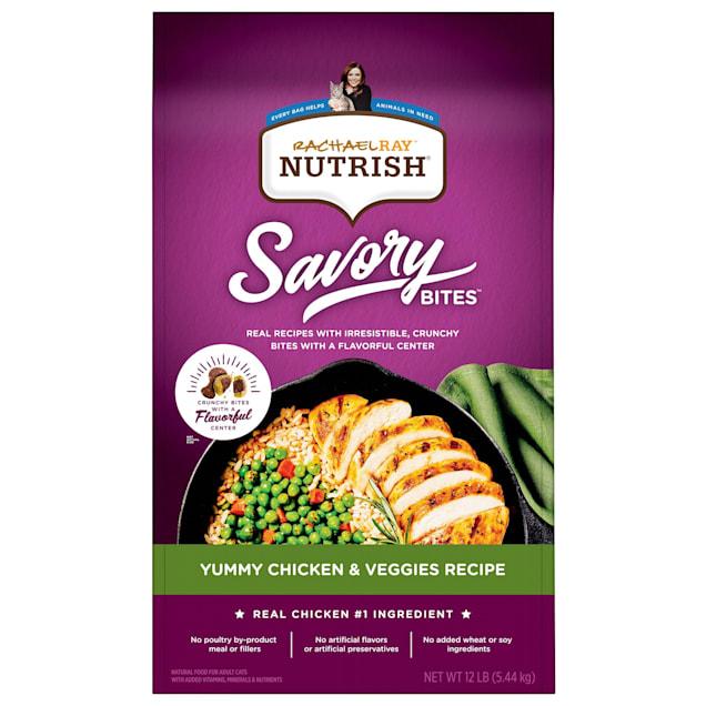 Rachael Ray Nutrish Savory Bites Yummy Chicken & Veggies Recipe Dry Cat Food, 12 lbs. - Carousel image #1