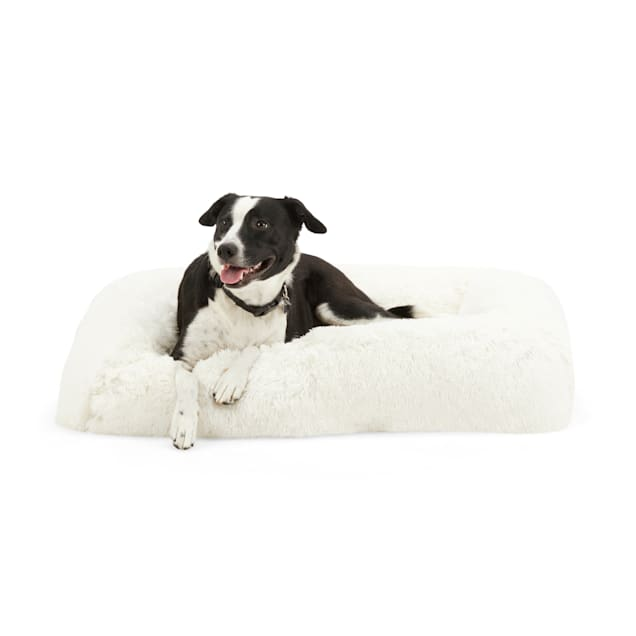 """EveryYay Snooze Fest Cream Calming Bed for Dogs, 29"""" L X 39"""" W - Carousel image #1"""