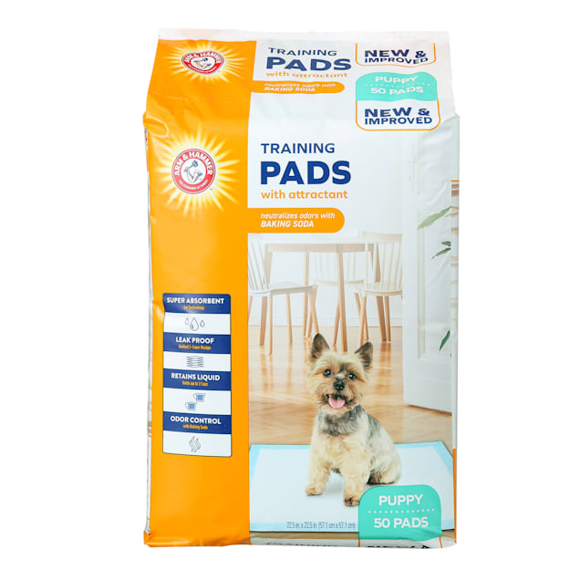 Arm & Hammer Puppy Training Pads with Attractant, Super Absorbent Leak-Proof, Odor Control Quilted Pads with Baking Soda, 50 ct. - Carousel image #1