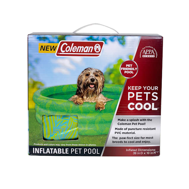 """Coleman Inflatable 3-Ring Pet Pool, 34"""" L X 34"""" W X 13"""" H - Carousel image #1"""