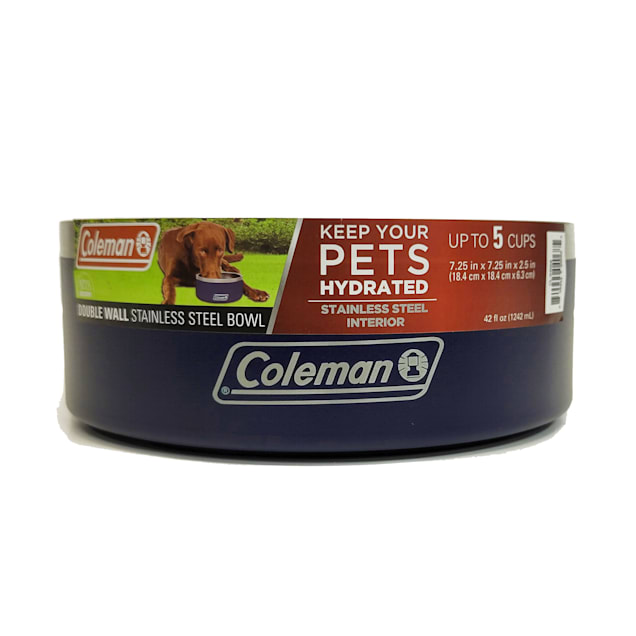 Coleman Double Wall Stainless Bowl for Pets, 8 Cup - Carousel image #1