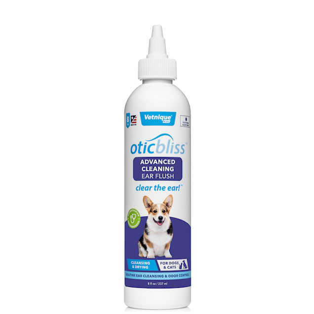 Vetnique Labs Oticbliss Advanced Cleaning & Drying Ear Flush for Dogs, 8 fl. oz. - Carousel image #1