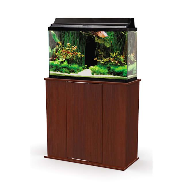Aquatic Fundamentals Cherry Upright 29 Gallon Aquarium Stand - Carousel image #1