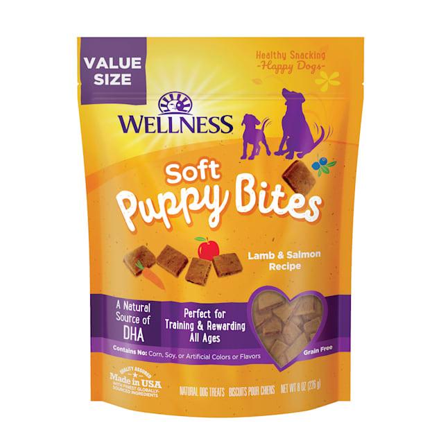 Wellness Complete Health Natural Grain Free Lamb & Salmon Recipe Soft Puppy Bites, 8 oz. - Carousel image #1