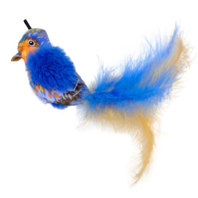 Coastal Pet Products Turbo Life-like Blue Bird Cat Toys, Small - Carousel image #1