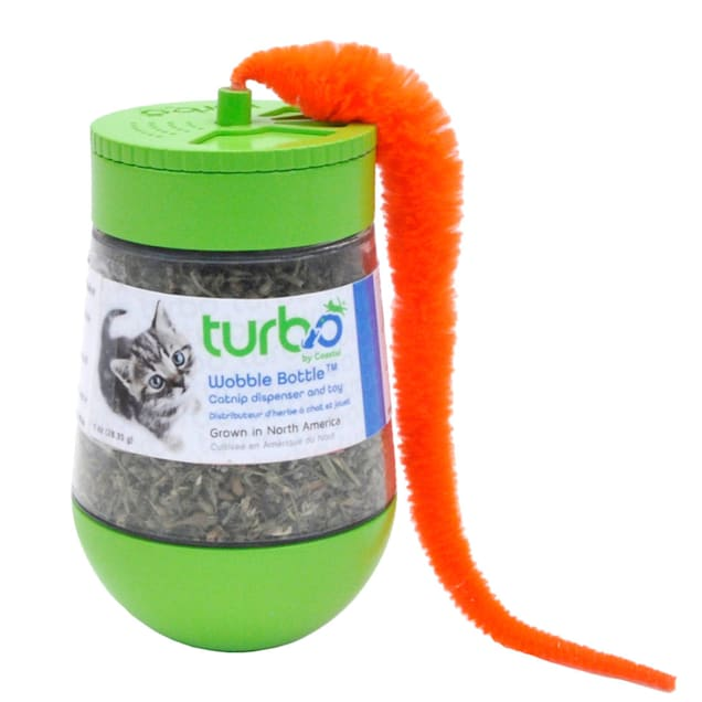 Coastal Pet Products Turbo Wobble Bottle Catnip Dispenser and Toy, Small - Carousel image #1