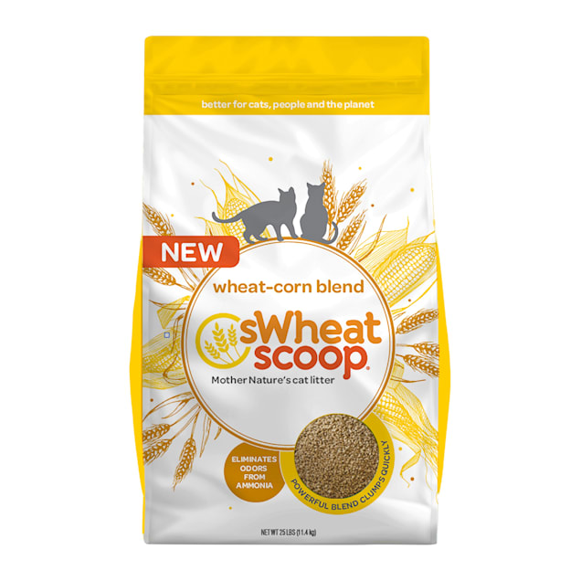 sWheat Scoop Wheat-Corn Blend Mother Nature's Clumping Wheat Cat Litter, 25 lbs. - Carousel image #1