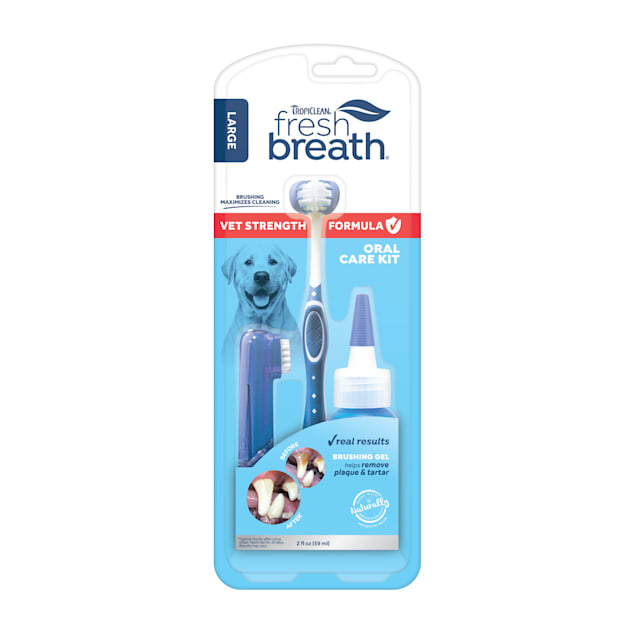 TropiClean Fresh Breath Vet Strength Formula Oral Care Kit for Large Dogs - Carousel image #1