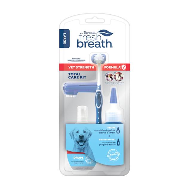 TropiClean Fresh Breath Vet Strength Formula Total Care Kit for Large Dogs - Carousel image #1