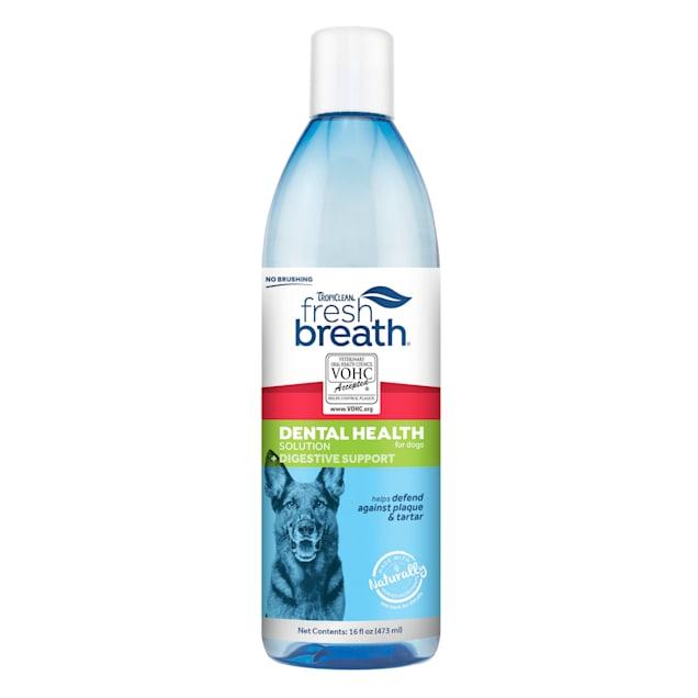 TropiClean Fresh Breath Digestive Support Dental Health Solution for Dogs, 16 fl. oz. - Carousel image #1
