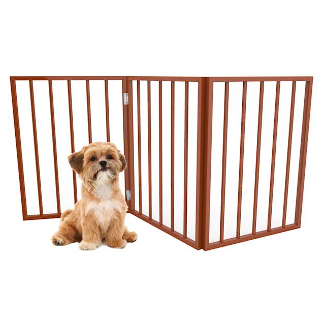 "Pet Adobe Mahogany Freestanding Folding Pet Gate, 1"" L X 54"" W X 24"" H - Carousel image #1"
