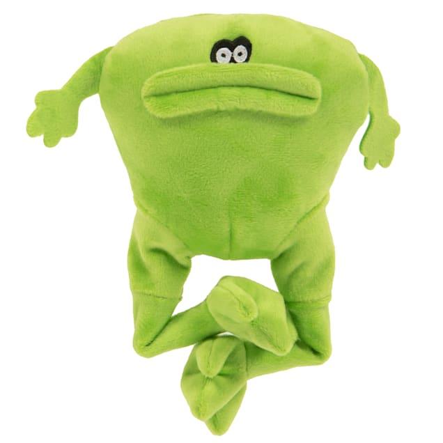 goDog Action Plush Frog Dog Toy, Medium - Carousel image #1
