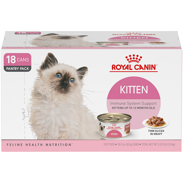 Royal Canin Feline Health Nutrition Thin Slices in Gravy Wet Kitten Food Muti Pack, 3 oz., Count of 18 - Carousel image #1
