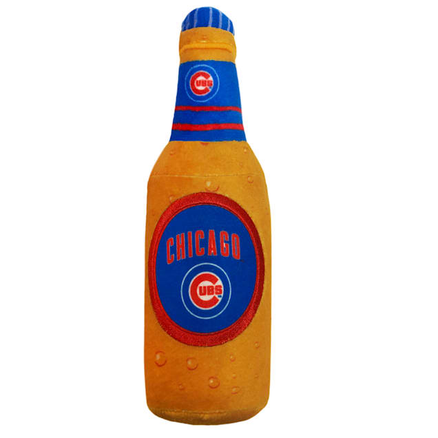 Pets First Chicago Cubs Beer Bottle Dog Toy, Medium - Carousel image #1
