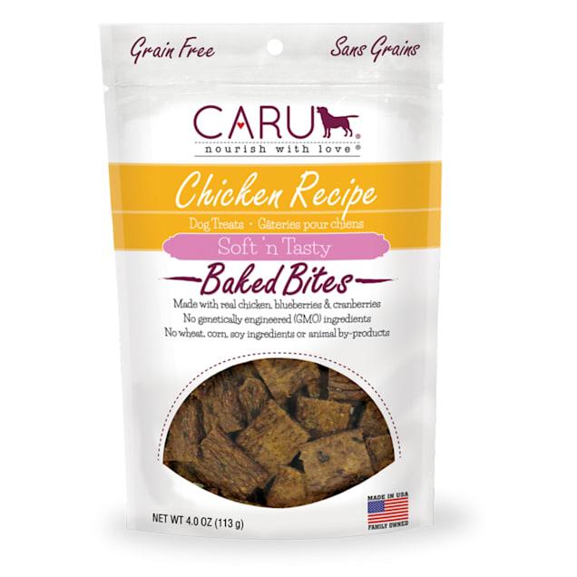 CARU Soft 'n Tasty Baked Bites Chicken Recipe Dog Treats, 4 oz. - Carousel image #1