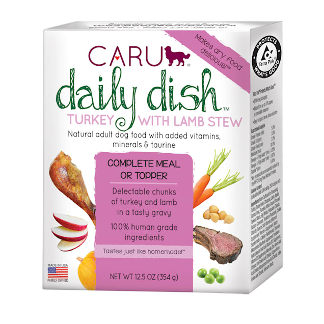 CARU Daily Dish Turkey with Lamb Stew Wet Dog Food, 12.5 oz., Case of 12 - Carousel image #1
