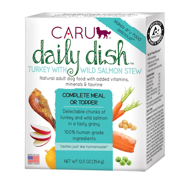 CARU Daily Dish Turkey with Salmon Stew Wet Dog Food, 12.5 oz., Case of 12 - Carousel image #1