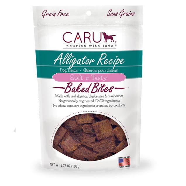 CARU Soft 'n Tasty Baked Bites Alligator Recipe Dog Treats, 3.75 oz. - Carousel image #1