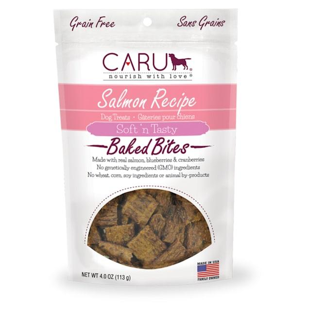 CARU Soft 'n Tasty Baked Bites Salmon Recipe Dog Treats, 4 oz. - Carousel image #1