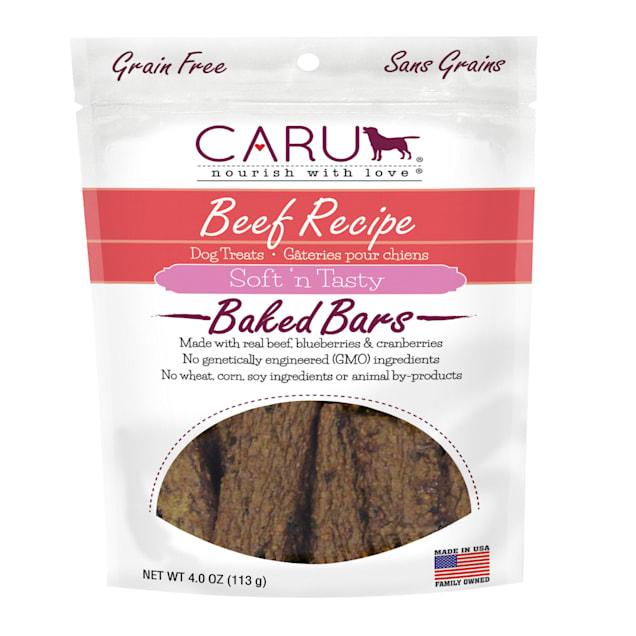 CARU Soft 'n Tasty Baked Bars Beef Recipe Dog Treats, 4 oz. - Carousel image #1