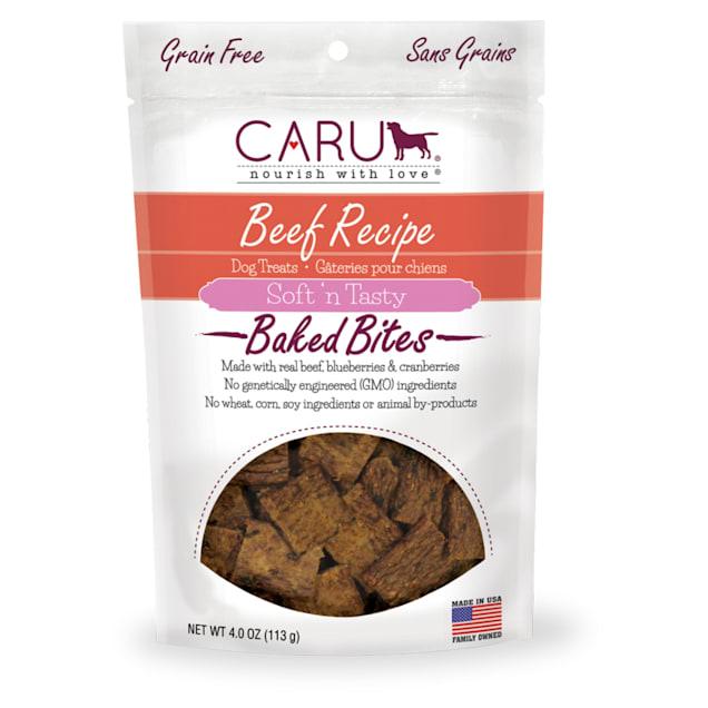 CARU Soft 'n Tasty Baked Bites Beef Recipe Dog Treats, 4 oz. - Carousel image #1