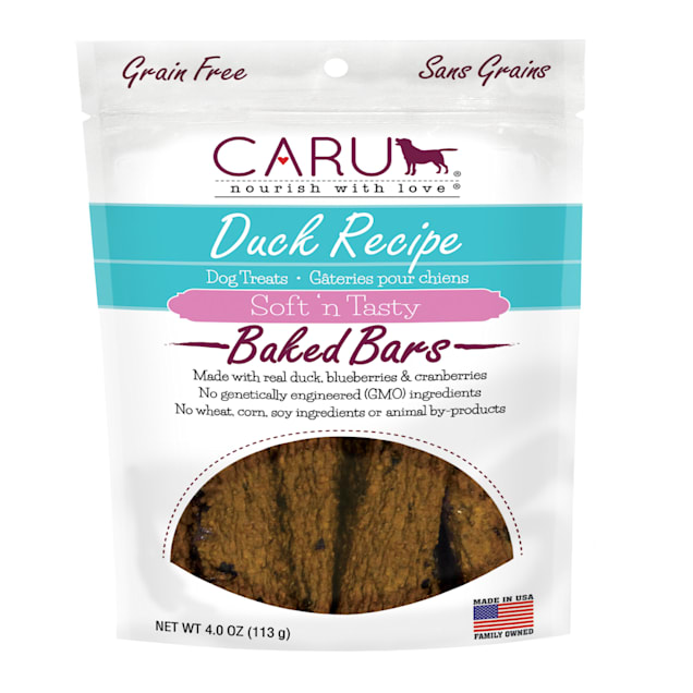CARU Soft 'n Tasty Baked Bars Duck Recipe Dog Treats, 4 oz. - Carousel image #1