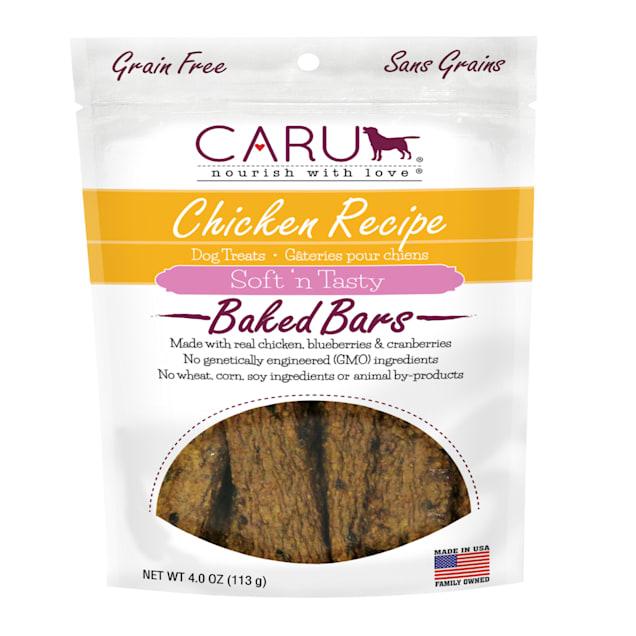 CARU Soft 'n Tasty Baked Bars Chicken Recipe Dog Treats, 4 oz. - Carousel image #1