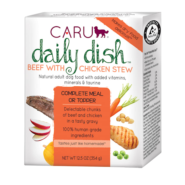 CARU Daily Dish Beef with Chicken Stew Wet Dog Food, 12.5 oz., Case of 12 - Carousel image #1