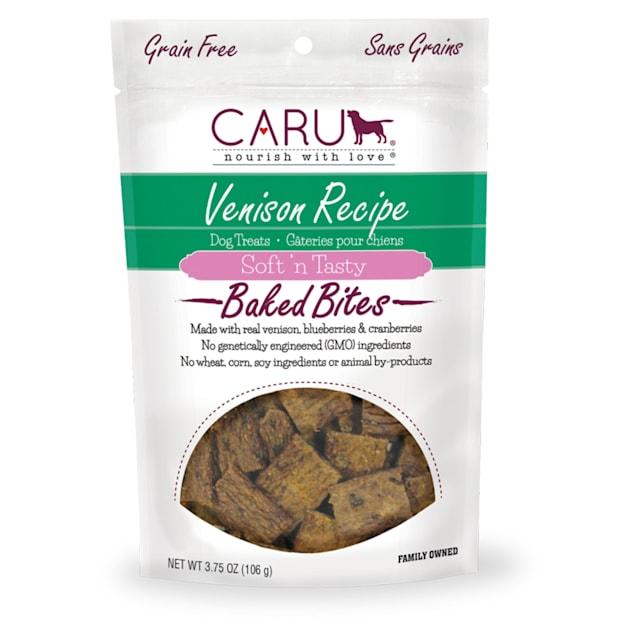 CARU Soft 'n Tasty Baked Bites Venison Recipe Dog Treats, 3.75 oz. - Carousel image #1