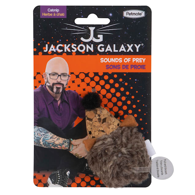 Jackson Galaxy Natural Electronic Cork Hedghog Cat Toy, Small - Carousel image #1