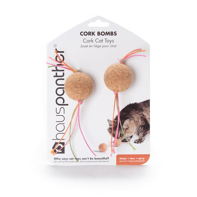 Hauspanther Collection By Primetime Cork Bombs Zest Cat Toy, Medium - Carousel image #1