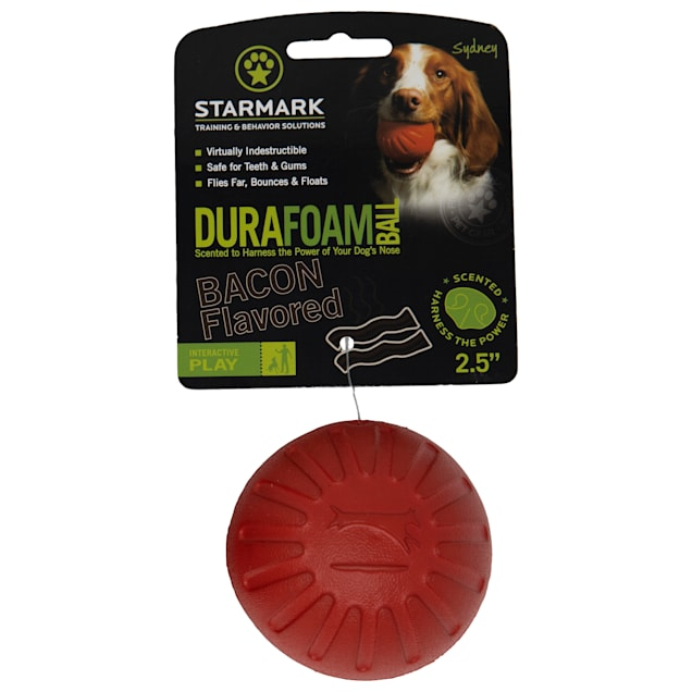 Starmark Bacon Durafoam Ball for Dogs, Medium - Carousel image #1