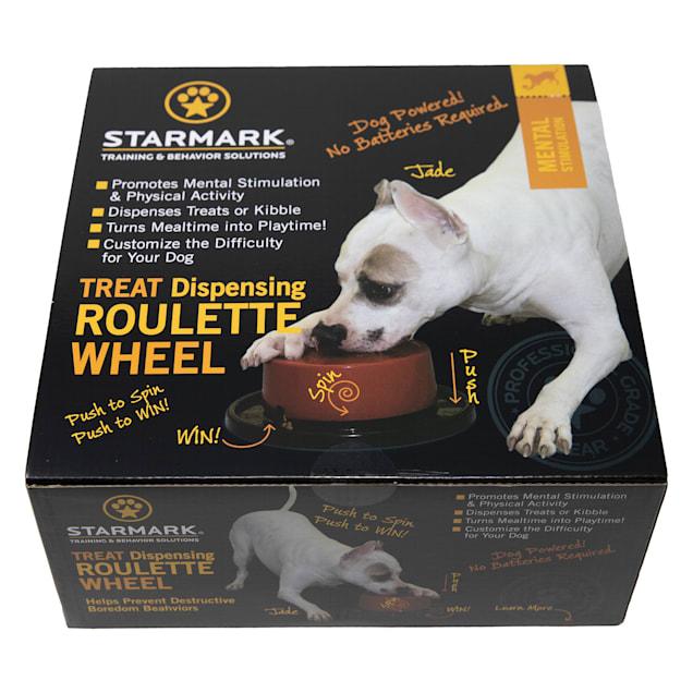 Starmark Treat Dispensing Roulette Wheel for Dogs, Medium - Carousel image #1