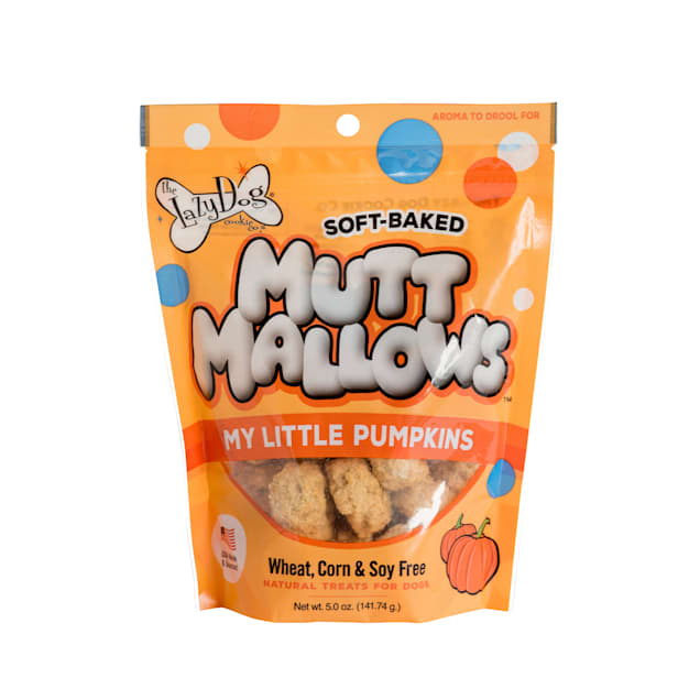 The Lazy Dog Cookie Co. Mutt Mallows My Little Pumpkins Soft-Baked Dog Treats, 5 oz. - Carousel image #1